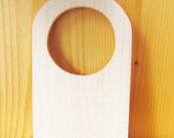 Small wood door hanger, kids party gift, kids craft supplies, wholesale wood craft, custom door hanger, ShineKidsCrafts