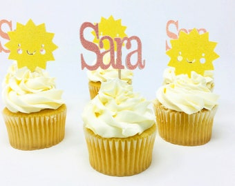 You Are My Sunshine Cupcake Toppers- 12 Pieces
