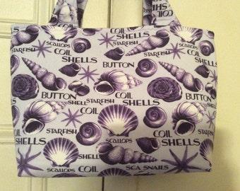 Purple Seashell Handbag