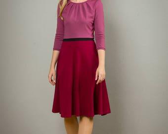 "Dreifarbiges Kleid ""Elisa"" mit Tellerrock"