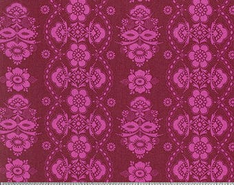 Color Brigade by Jennifer Paganelli for Free Spirit - McLisa - Maroon - Fat Quarter - FQ - Cotton Quilt Fabric