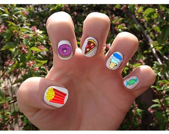 Junk Food // Summer // Nail Decals Transfer Nail Stickers