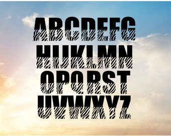 Zebra Font SVG For Cutting Machine