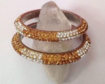 Bangle Bracelets, Crystal Bangles, Gold Bangles