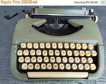 typewriter, old typewriter, typewriter from Bulgaria, produced 1980, working typewriter, typewriter with the original lane, Cyrillic,