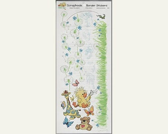 Suzy Suzy's Zoo Scrapbooking Border Sticker Sheet #9739 Witzy and Gang Dandelions