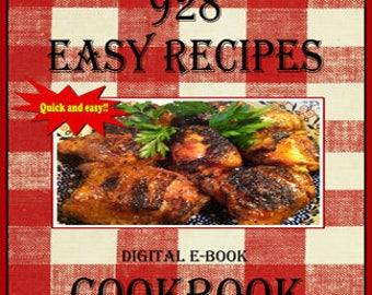 928 Easy Recipes E-Book Cookbook Digital Cookbook