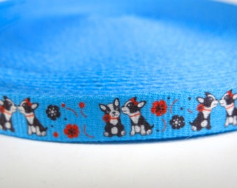 "5 yards of 5/8 inch ""Dog paw"" grosgrain ribbon"