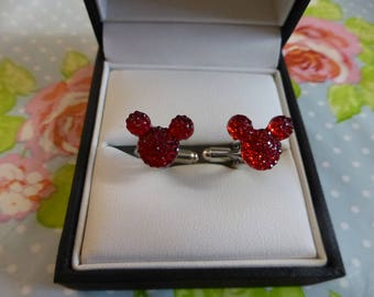 Mickey Mouse Ears Bling Cufflinks Cuff links Disney Wedding Theme Groom Groomsmen Gift Various colours available!!!!