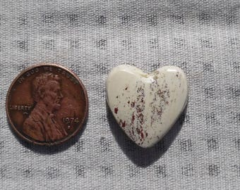 Handmade Natural Alunite Cabochon From Arizona 19mm x 19mm Heart #250-3041