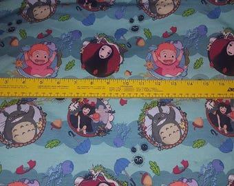 Ghibli film inspired custom cotton lycra knit