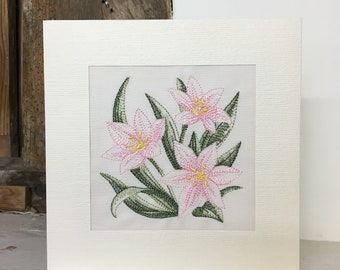Star of Bethlehem Embroidered Greeting Card