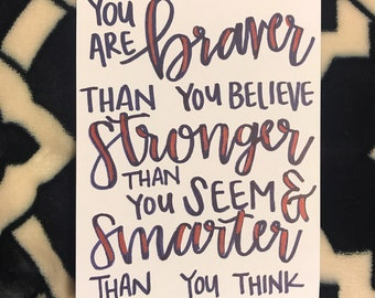 Braver than you believe card