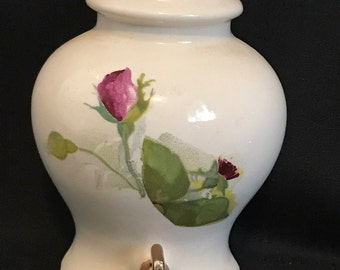 Vintage Wall Pocket Pitchers and Roses 1960's Wall Decor