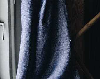 Linen Towel / Blue Towel /  Navy Blue Towel