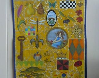 Decorative acrylic on canvas banner