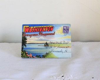 1951 Washington Fold Out Postcard