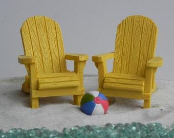 Miniature Adirondack Chair, Fairy Beach Garden Supply, Fairy Garden  Accessories, Miniature Beach Chair
