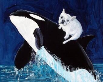 "French Bulldog Art Print of an original oil painting - 8"" x 10"" - Dog Art"