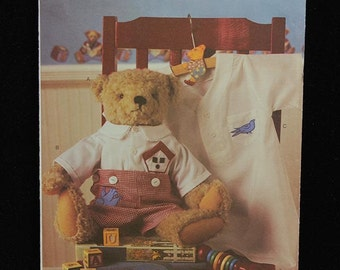 Butterick Pattern 3683 Jointed Teddy Bear Stuffed Animal & Clothes NEW