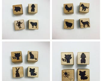 Natural Wood Blocks, Baby Blocks, Learning Toys, Kids Toys, Safari Animals, Nature, Baby Shower Gift, Personalized Blocks, Montessori Toys