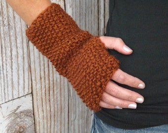 Fingerless Gloves - Knit Fingerless Mitts - Texting Gloves - Texting Mitts - Knit Fingerless Gloves - Winter Accessory