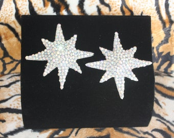 Burlesque Atomic Star Pasties AB showgirl Crystal Rhinestone