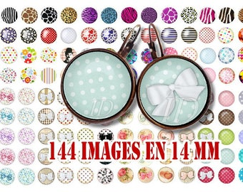 14 MM Digital Collage Sheet Printable Instant Download for art jewelry scrapbooking bottle caps magnets pins