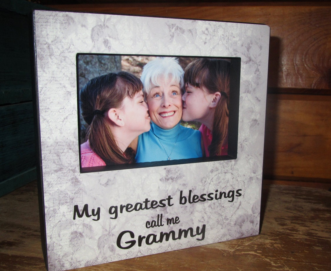My Greatest Blessings Call me Grammy Picture Frame Grammy Gift Gift ...