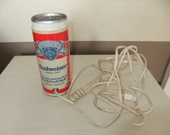 Vintage Budweiser Bud Beer Can Push Button Telephone