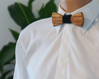 Wooden Bow Tie - Zebrano - Wedding bow tie - Special moments