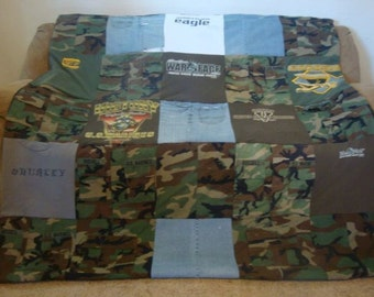 Custom Military Memory Blanket - Fatigue CAMO