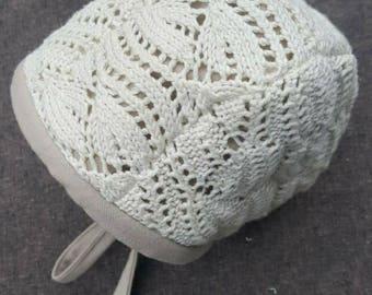 Woven Sweater Bonnet