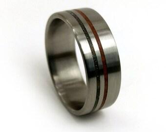 Dinosaur Bone Ring, Meteorite Ring, Titanium Ring, Different Wedding Ring, Unique Wedding Ring, Ring for Men, Ring for Women, Metal Ring