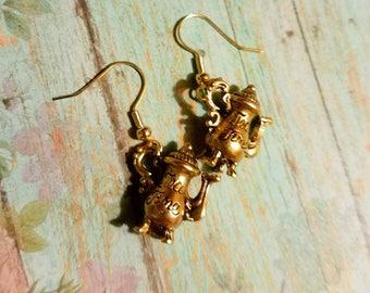 Teapot, Decorative Tea Pot earrings, food earrings, tea earrings, tea lover, tea time