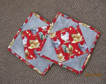 Quilted Pot Holders/Hot Pads