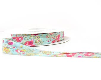 Liberty fabric & meadow flowers blue turquoise and fuchsia 15-30mm sold per 10cm