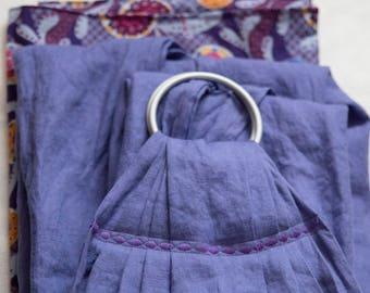 Lavender Love - Extra Long Linen Ring Sling- Baby Sling - Baby Carrier - Babywearing - New mom gift