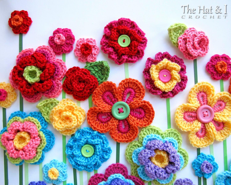 Crochet pattern floral fantasy 5 colorful crochet flower zoom izmirmasajfo