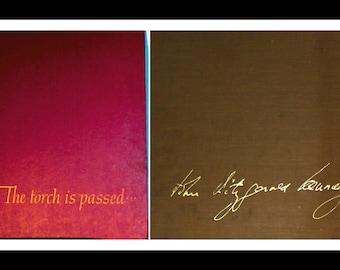 TWO Vintage John F. Kennedy Books: John Fitzgerald Kennedy...As We Remember Him & The Torch is Passed, Historical JFK Books, JFK Memorabilia