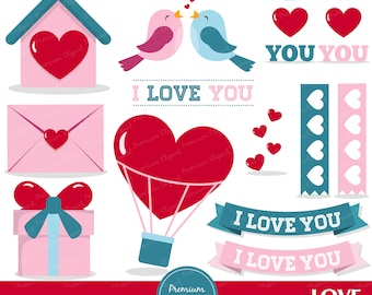 Love birds clipart, Valentines day clipart, Valentine clipart, Heart clipart, Bird clipart, Love letter - CA363