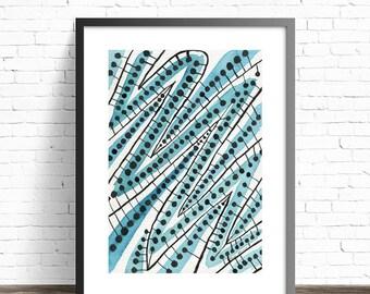 Teal Wall Art. Painting prints. Abstract art Prints. Abstract painting. Modern prints. Abstract print. Modern art print