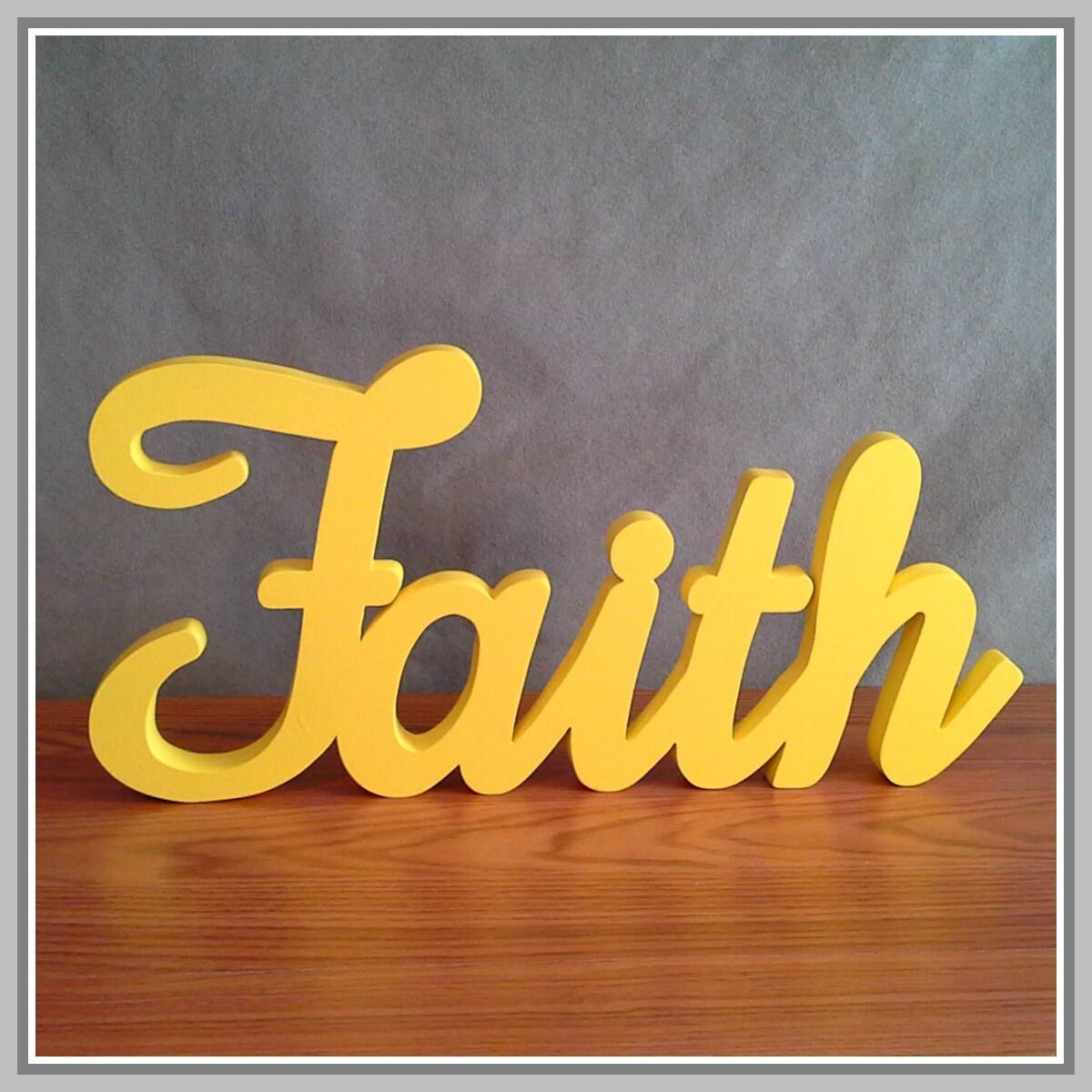 FAITH Inspirational Wooden Faith Sign stand-alone