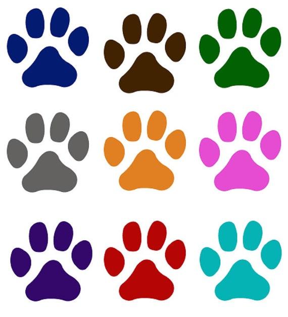 Pet paw print cat dog window decal choose your favorite