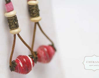 One-of-a-kind Paper Bead Earrings