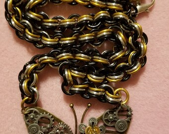 Steam Punk Butterfly Necklace