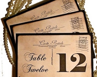 20% off Gatsby Table Numbers Hollywood Wedding 1920s Table