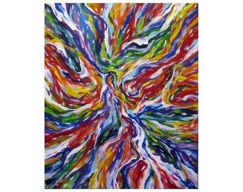 PROFUSION - bursts of color, paint abstract painting