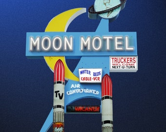 Moon Motel Postcard