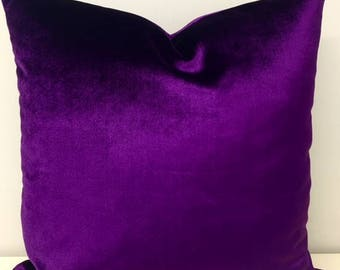Luxury Purple Velvet Pillow Cover, Velvet Pillow, Purple Pillows, Decorative Designer Pillow, Velvet Throw Cushion, Purple Pillow Covers